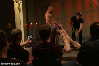 Cum starved sluts humiliated in public by military studs, porn stars and buff hunks